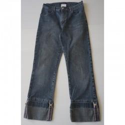 Jupe en jeans used à clous T 36 Cache-Cache