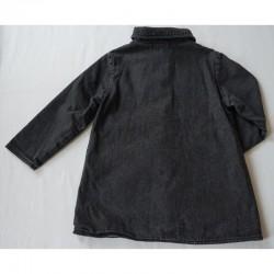 Verso du manteau en jeans noir 6 ans Elle