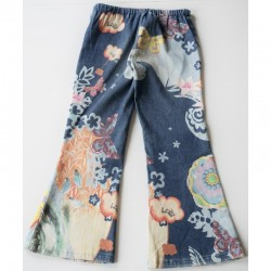 Verso du Pantalon multicolore aux motifs asiatiques 8 ans United colors of Benetton