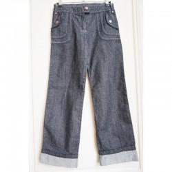 Jeans foncé aux surpiqûres colorées 10 ans Tape à l' Oeil