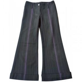 Pantalon noir rayé violet 8 ans Caprice de Fille