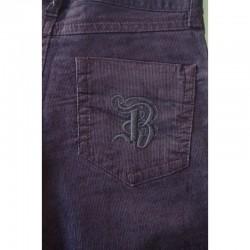 Poche arrière du Pantalon en velours prune T32 Bizbee