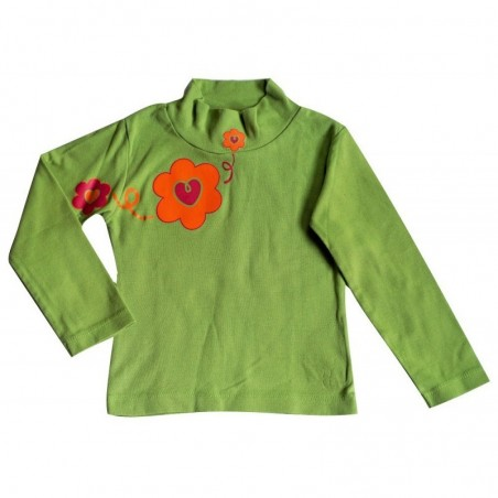 T-shirt manches longues Vert pomme 4 ans Funky School