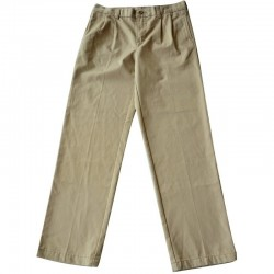 Pantalon à pinces beige 12 ans Lands'end Kids