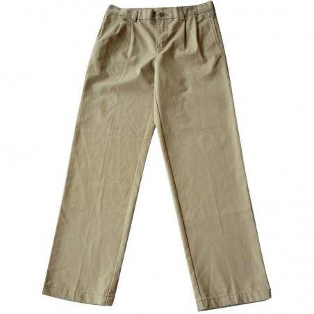 Pantalon à pinces beige 12 ans Lands'end Kids