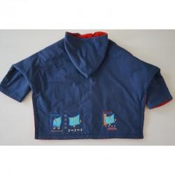 Dos du Poncho d' hiver bleu marine 6 ans Marèse