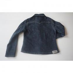 Dos de la Veste cintrée en jeans foncé noirci - 12 ans - DDP