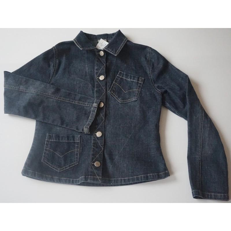 Veste cintrée en jeans foncé noirci - 12 ans - DDP