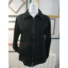Veste en jeans foncé zippée T42 Adèle Joris