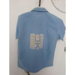 Visuel du verso de la Chemisette Bleu clair à la marque 4 ans Okaïdi