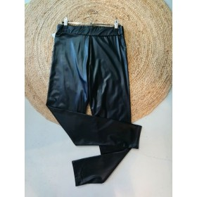 Legging enduit noir T38 Boohoo