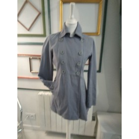 Trench court gris T 36 Etam