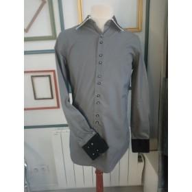 Chemise de fêtes grise T37-38 Adriano Jacometti