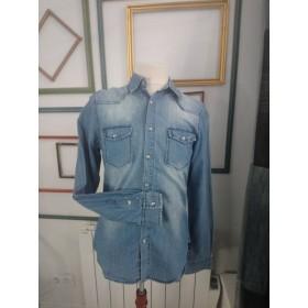 Chemise en jeans blanchie fine TU Sixth June