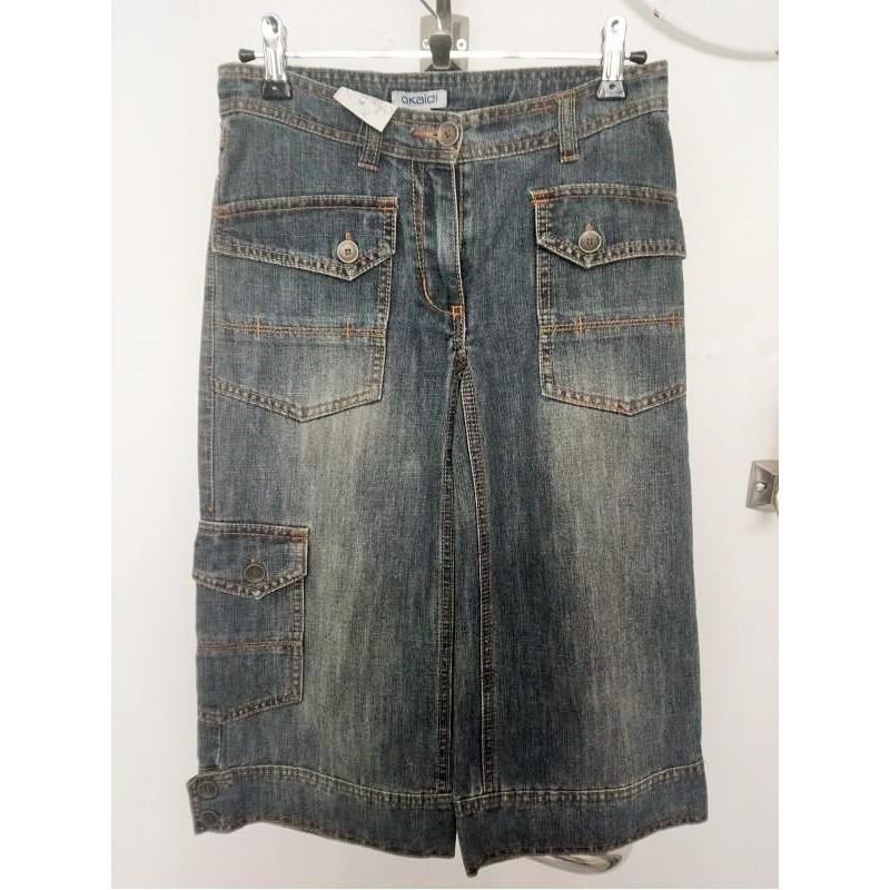 Pantacourt en jeans grisé 10 ans Okaïdi