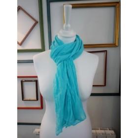 Foulard froissé turquoise clair