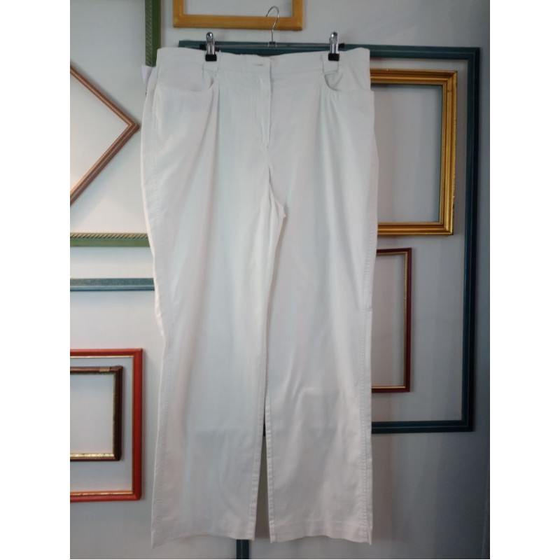 Pantalon blanc T 46 Bleu de Sym