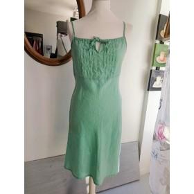 Robe en lin vert d'eau T 40 Mim